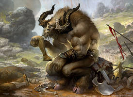 Pensive Minotaur by velinov