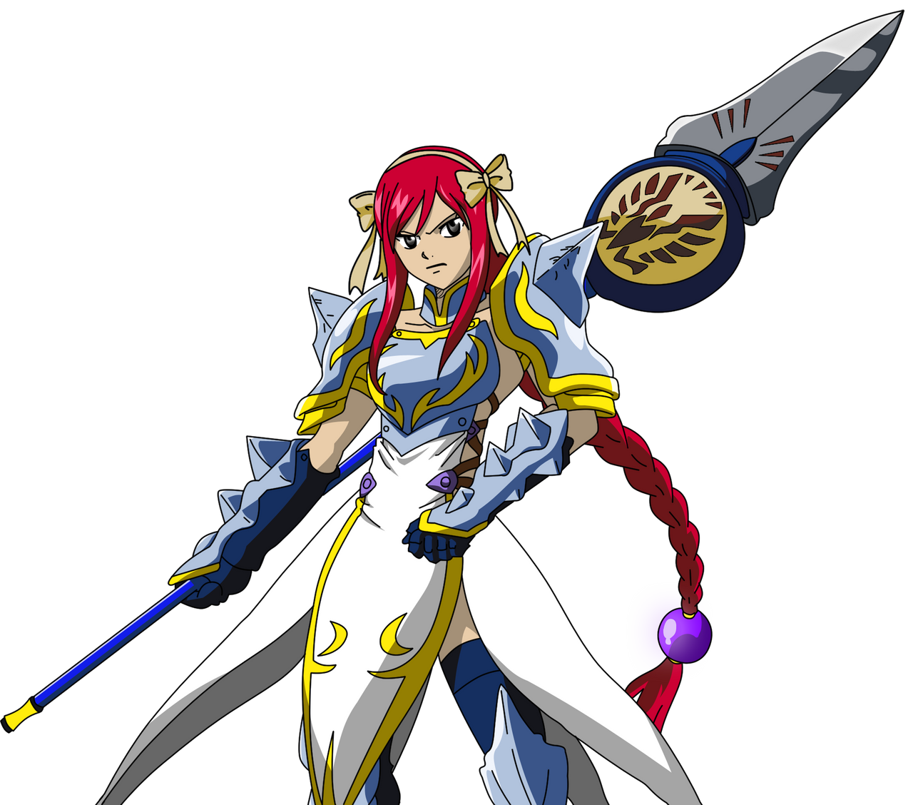 erza scarlet Lightning Empress  fairy tail by ice-doFairy Tail Erza Flame Empress Armor