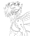 natsu dragneel: fairy tail line-art