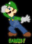 Luigi Coloured in MS Paint