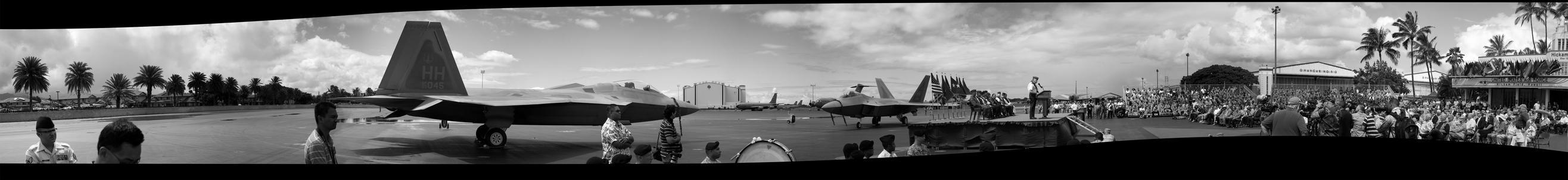 F-22 Raptors at Hickam AFB by gabrielyanagihara