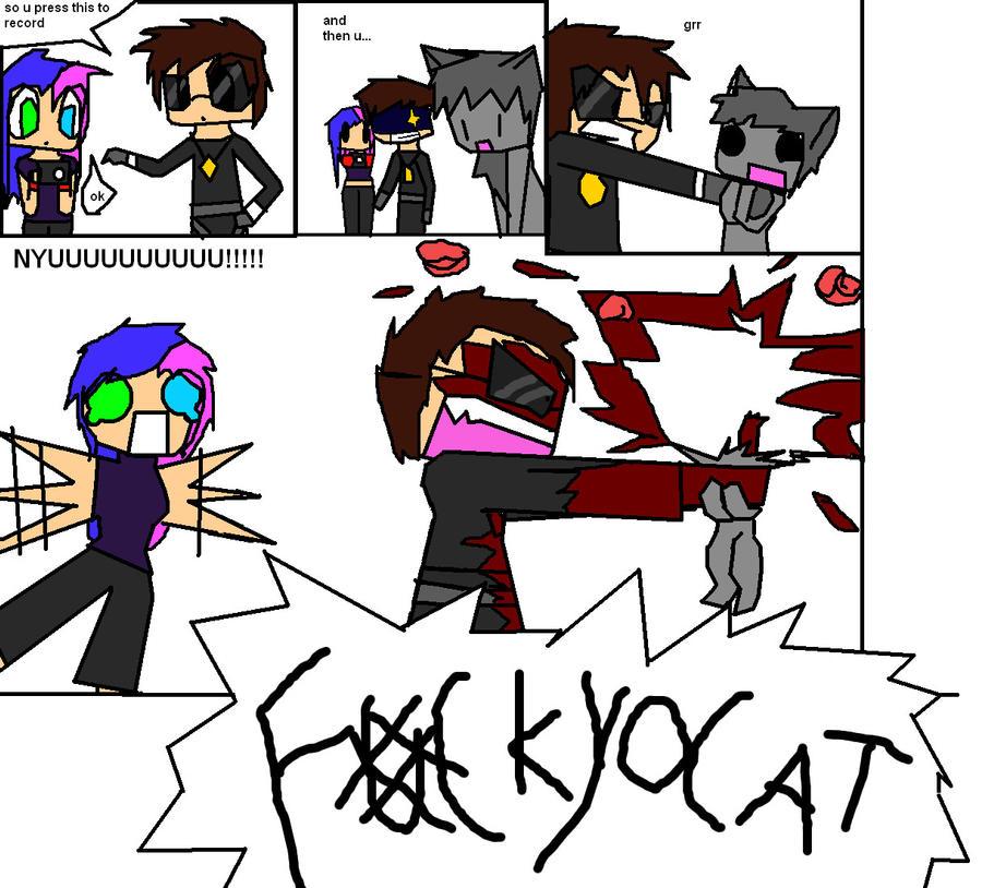 FK YO CAT!! by echoblaze123