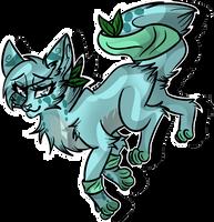 .: [COM] Fullbody to MintyCatwolfDA :. by SplashDreamms