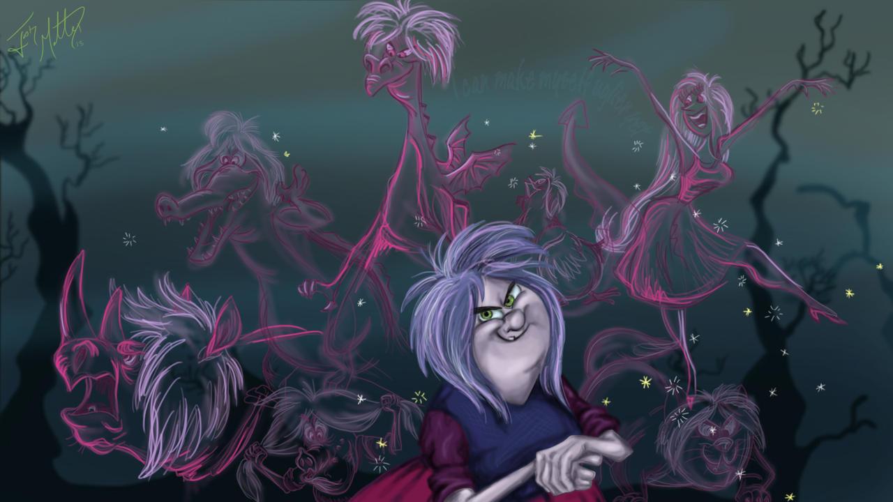 Maleficent Dragon Wallpaper Madam Mim Transformati...