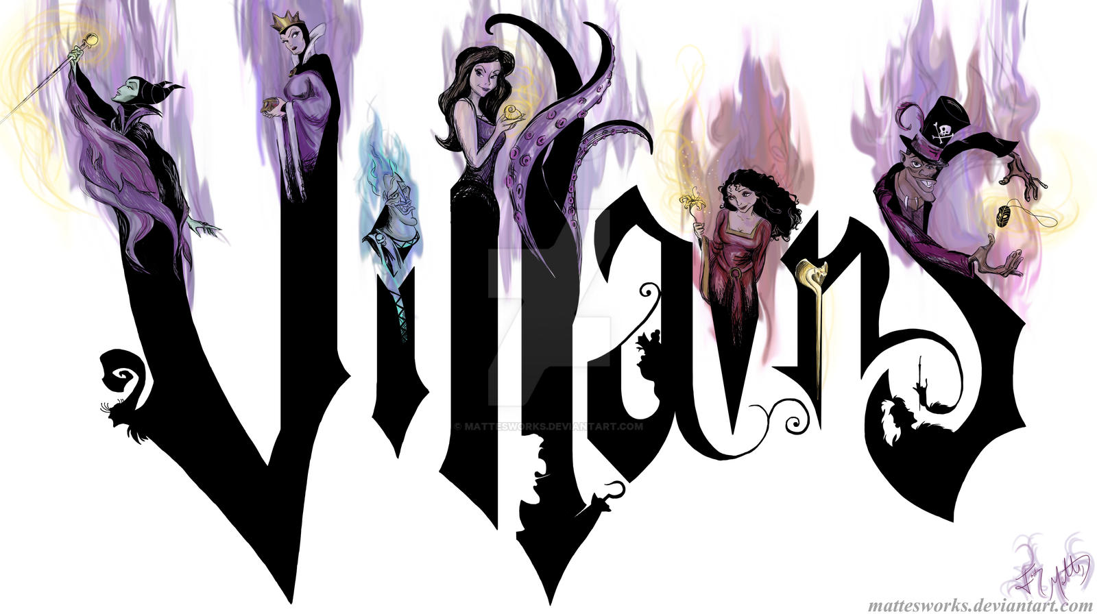 Disney Villains by MattesWorks