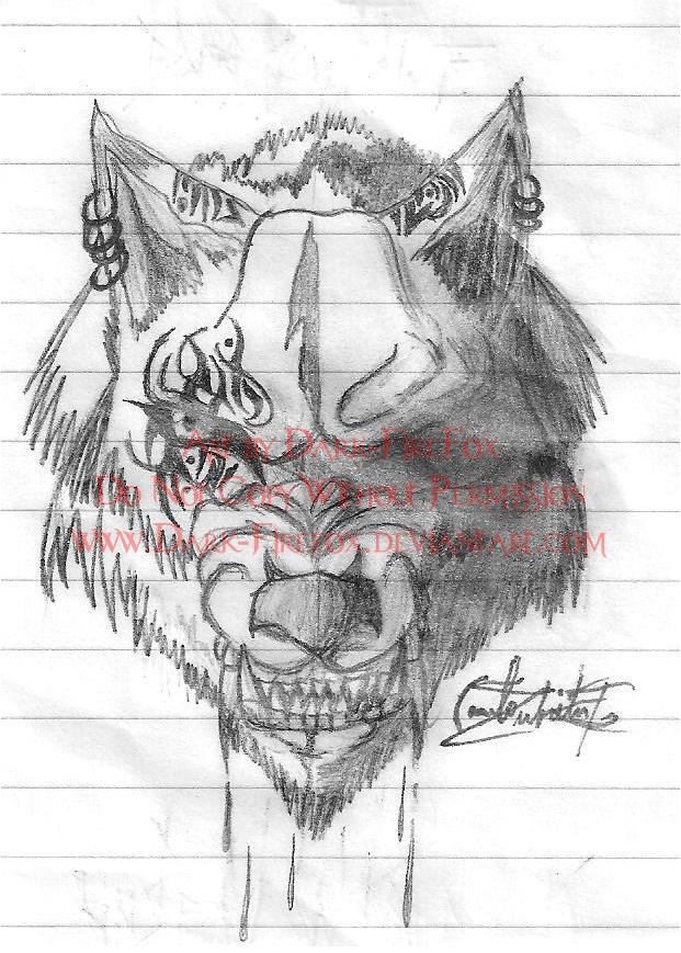 Evil Wolf Face Evil Wolf Face Tattoo ...
