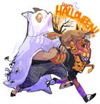 a very merry puck and balor halloween!