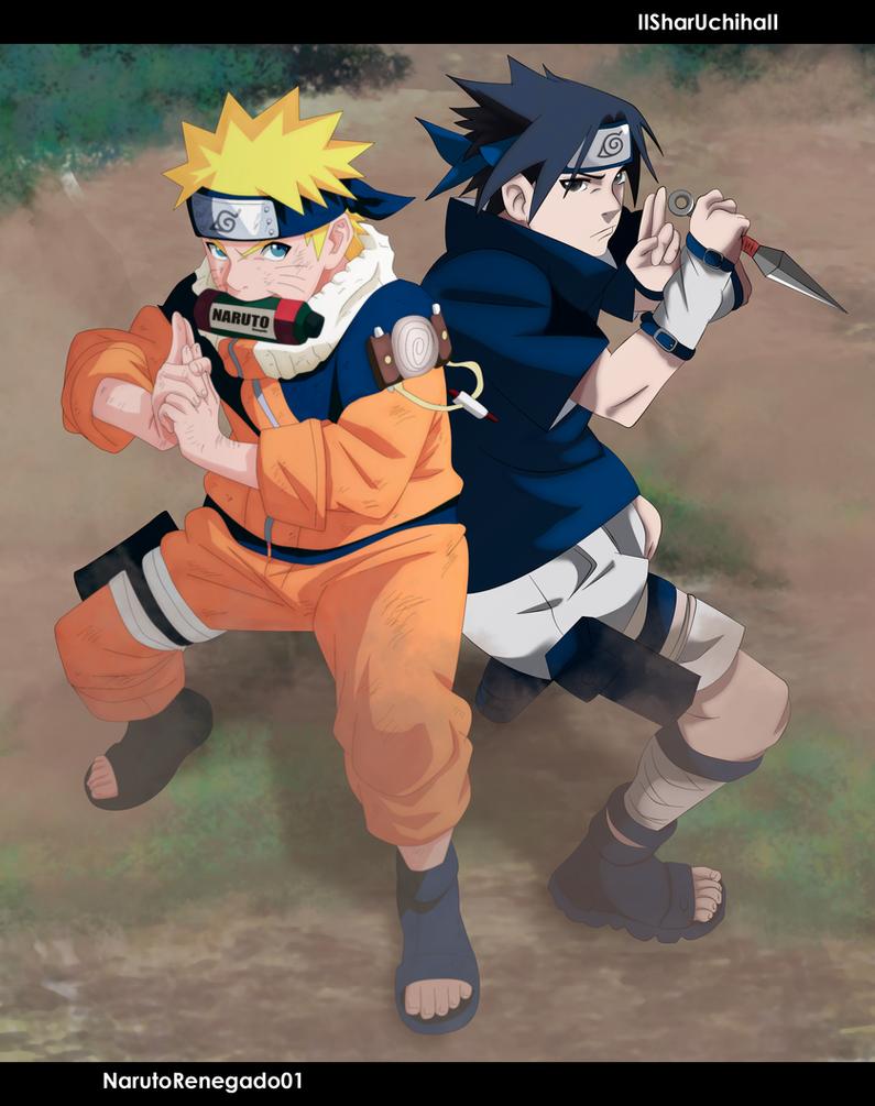 Naruto and Sasuke [Collab] by IISharUchihaII