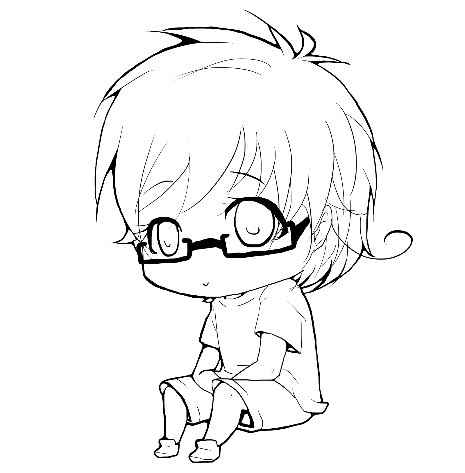Chibi Lineart : What i do during pe chibi lineart contest round by mizuki