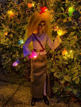 Zanthia with fireflies