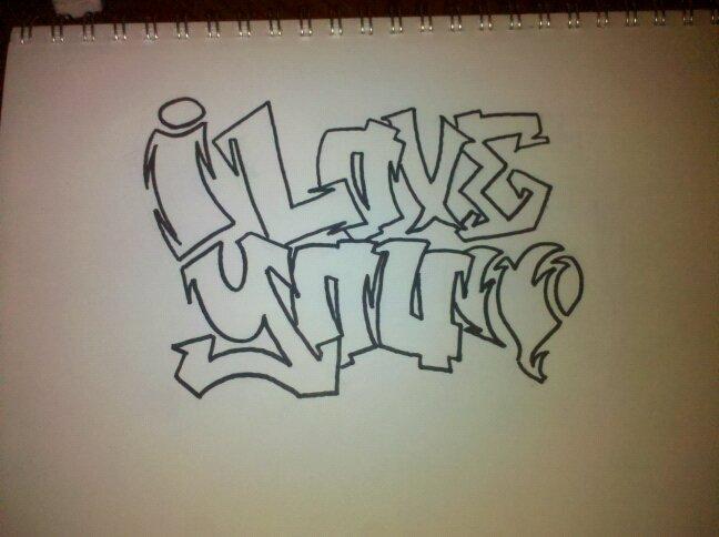 graffiti I Love You by NoDoubter27 on DeviantArt