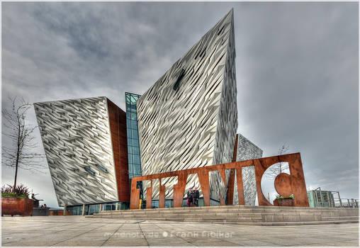 Belfast's spiked diamond - the Titanic memorial