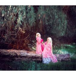 yokai in a pink kimono