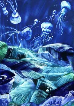 Jellyfish Dance Encaustic