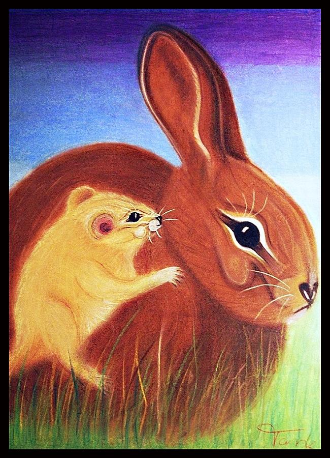 Bunny meets Mousy by Villa-Chinchilla