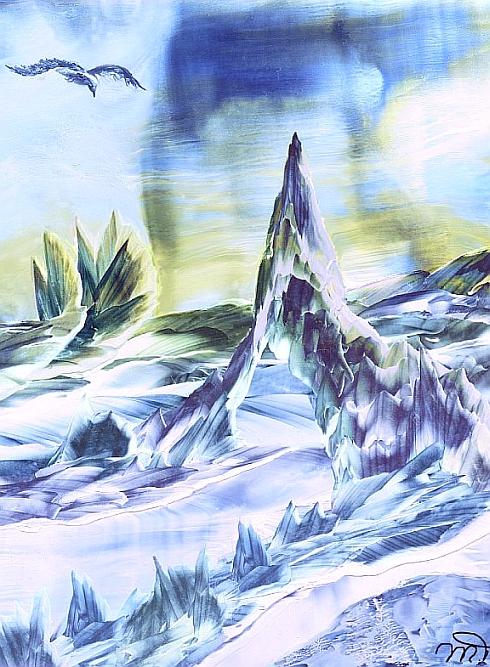 Frozen - Encautic Waxart by Villa-Chinchilla