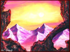 Sunset on Mount Doom by Villa-Chinchilla