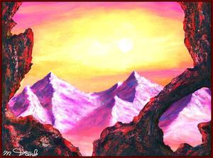 Sunset on Mount Doom