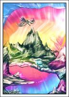 Mountain Morning Glory Waxart by Villa-Chinchilla