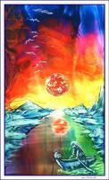 Burning Infinity - Encaustic by Villa-Chinchilla