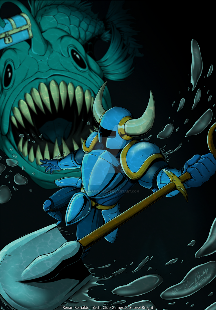 SHOVEL KNIGHT by RenanReynaldo