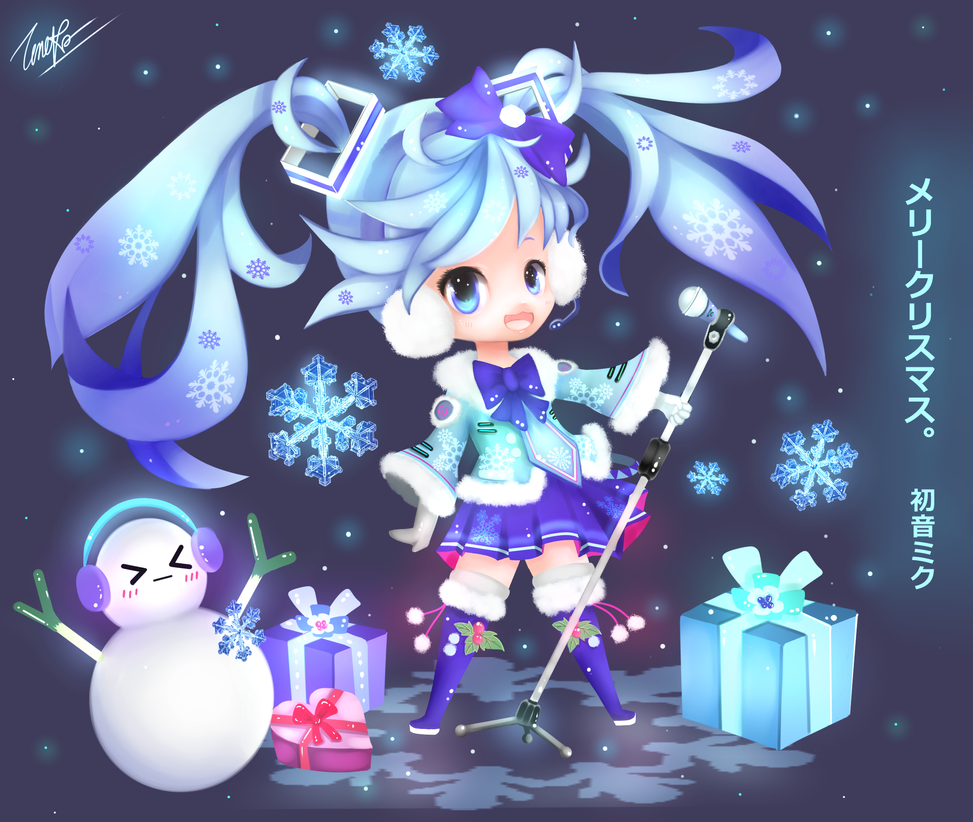Hastune Miku - the Christmas song for you !!! by Z-E-N-E-R-O