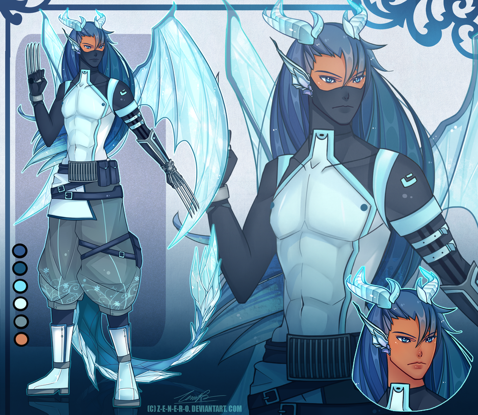 [COMMISSION] Custom Adoptable ice dragon by Z-E-N-E-R-O