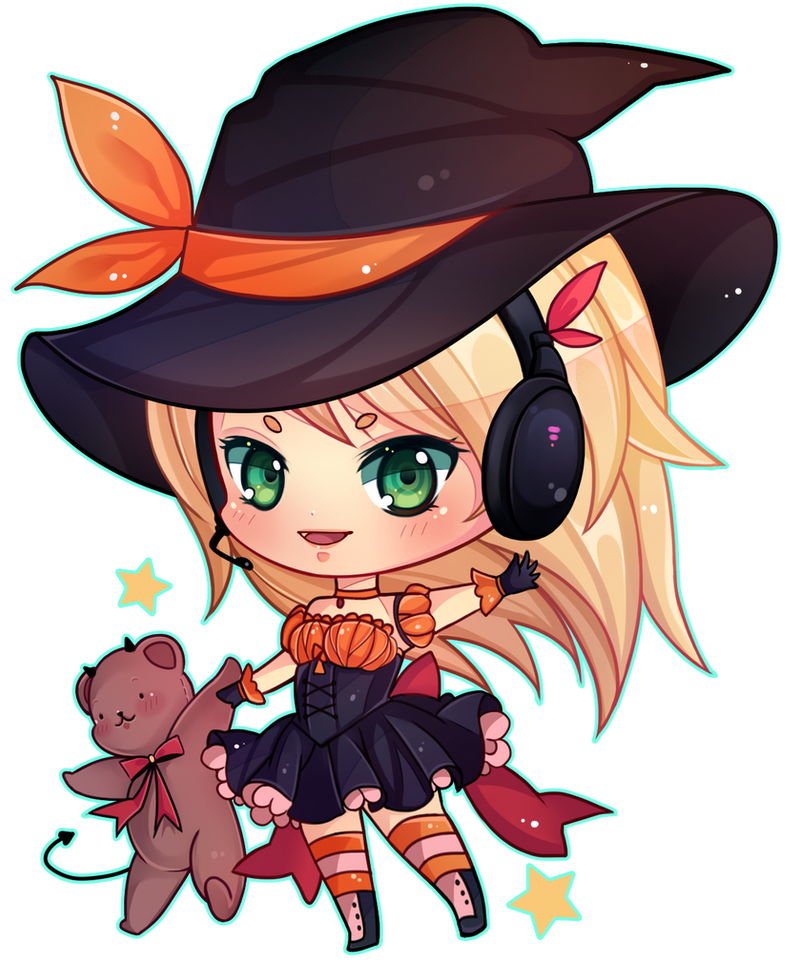 [COMMISSION] Halloween Chibi by Z-E-N-E-R-O