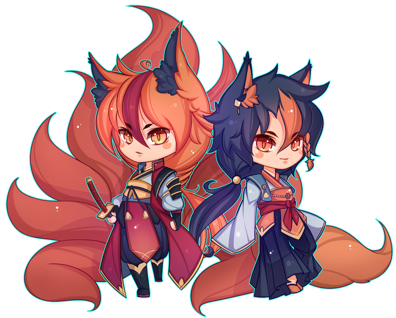 [COMMISION] Kitsune and his father by Z-E-N-E-R-O