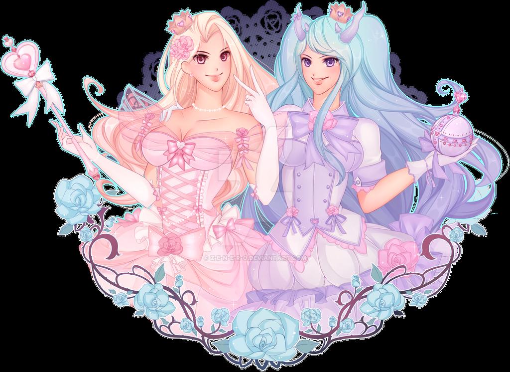 [COMMISSION] 2 Princesses by Z-E-N-E-R-O
