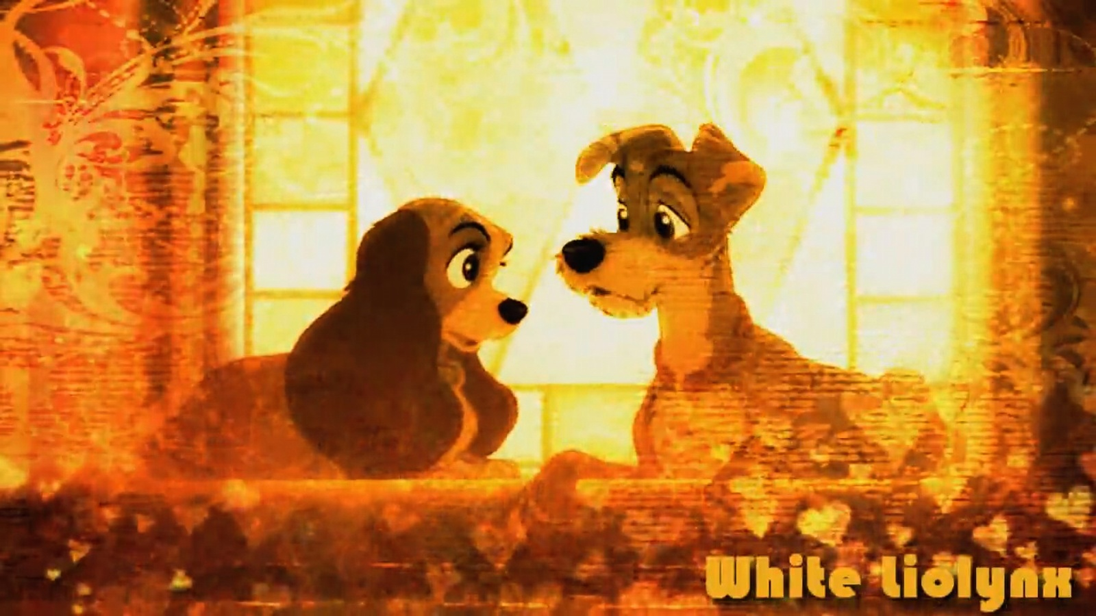 Lady and Tramp I hold you hand by WhiteMadness