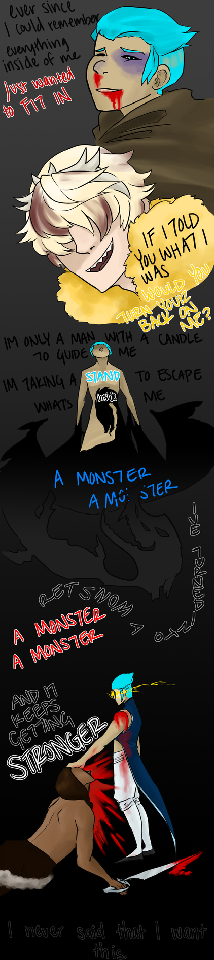 A monster by bishouen-satan
