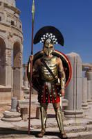 Spartan Hoplite with Armor by gringo4ninja