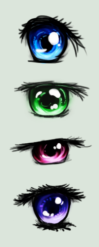Anime Eyes by Auxuris