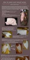 Tutorial: How to make light-weight wings (Kamael)