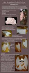 Tutorial: How to make light-weight wings (Kamael) by ElenaLeetah