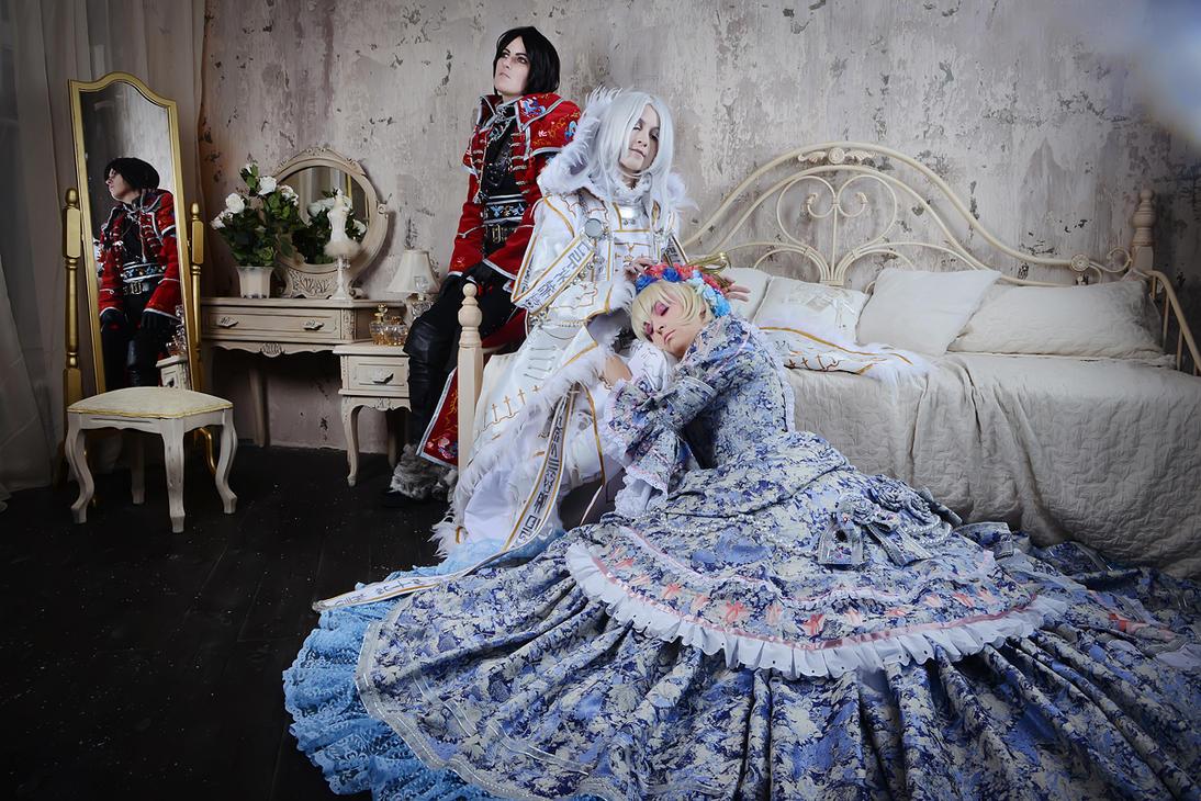 Opera Moment of tranquility. Milian, Kannagi, Sora by ElenaLeetah