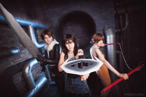 Final Fantasy VIII battle stance by ElenaLeetah