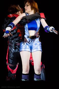 Tekken 6: Asuka in clinch