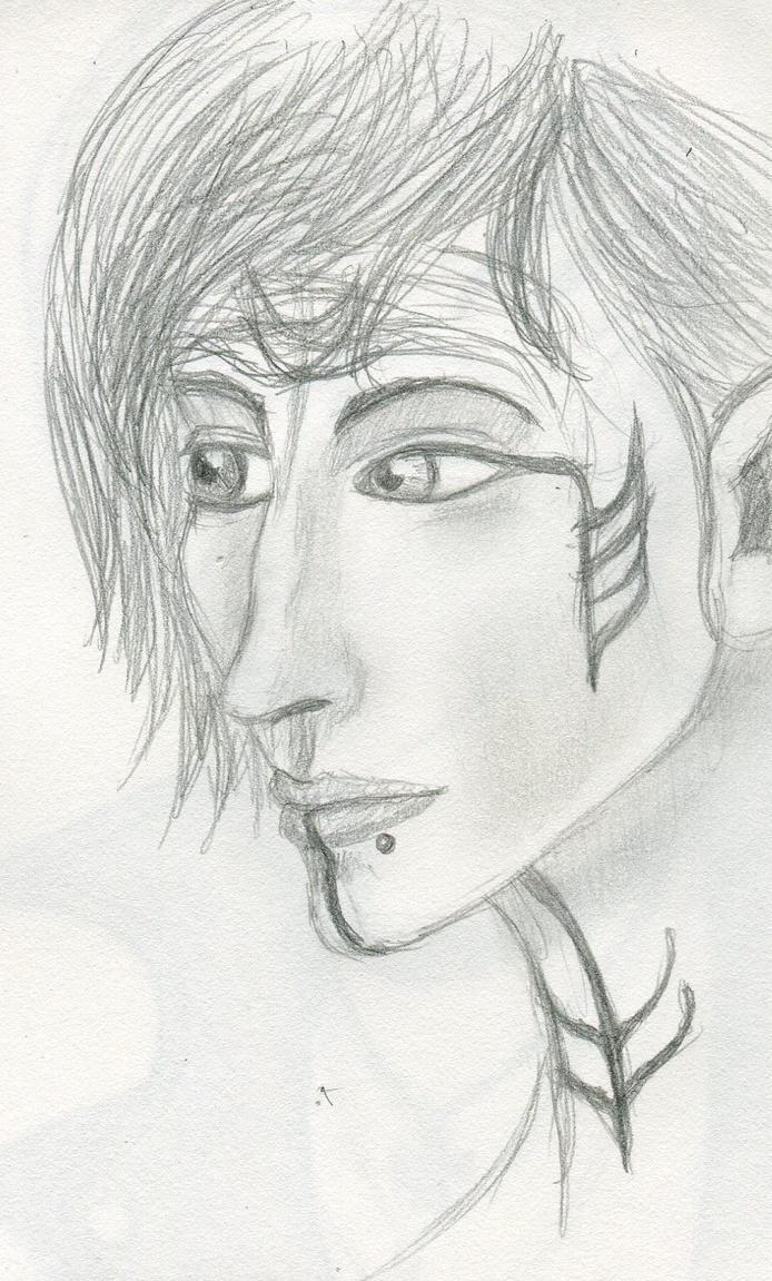 Lavellan Sketch by intrepid-Inkweaver