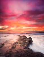 Sunrise at North beach, Wollongong by TahaElraaid
