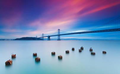 Beautiful morning   Bay Bridge, San Francisco by TahaElraaid