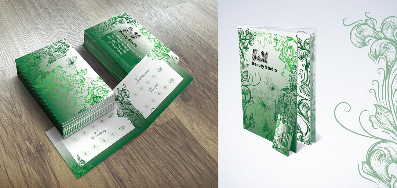 Business card and price-list for a beauty salon by Satlif on DeviantArt