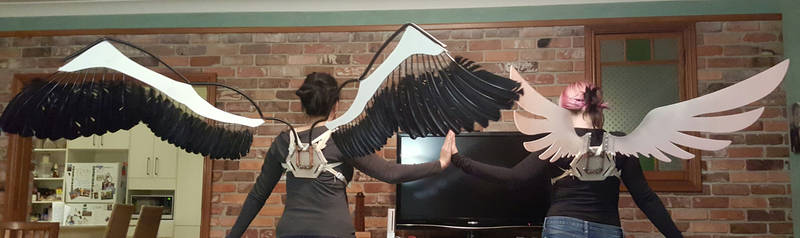 [PMMM] Madokami and Homucifer Cosplay Wings