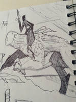 alien rider sketch