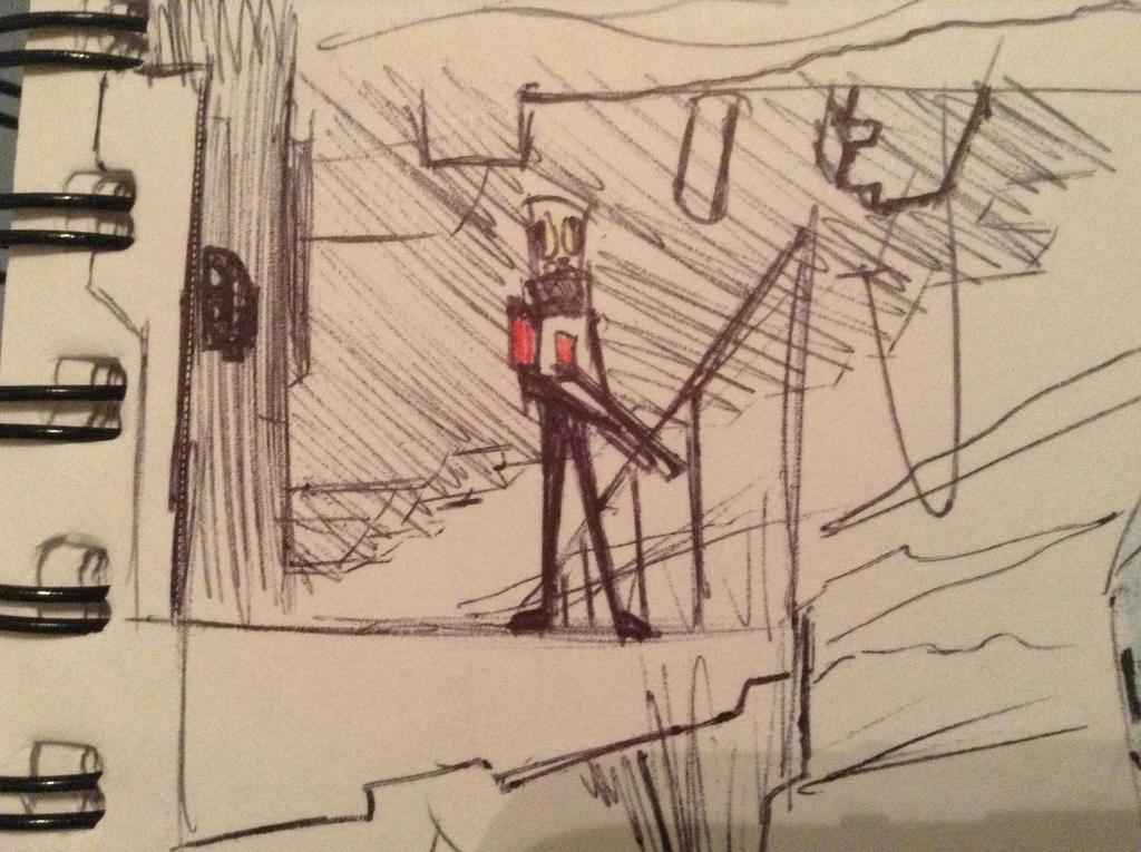 sarge on a platform by Lambda-fallout125