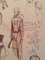 freeman doodle by Lambda-fallout125