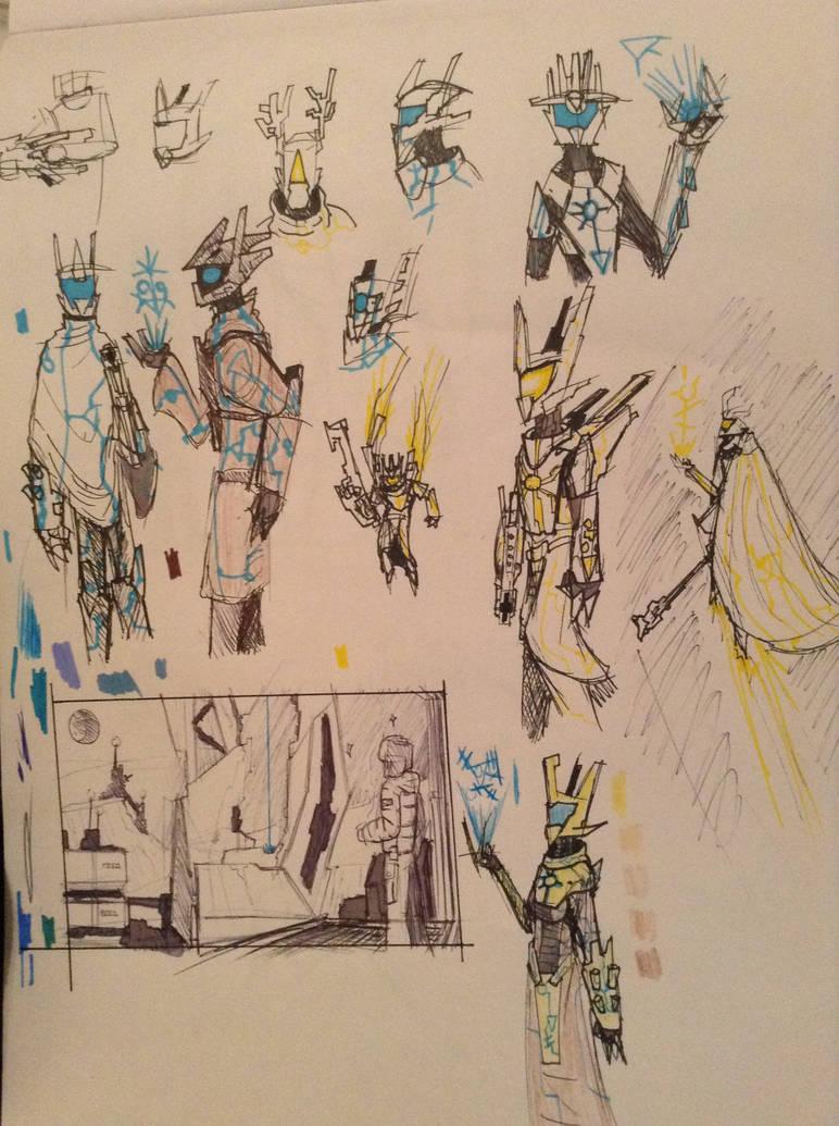 Guardian sketches by Lambda-fallout125