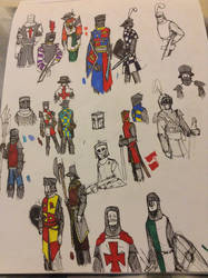 Medieval Sketches by Lambda-fallout125