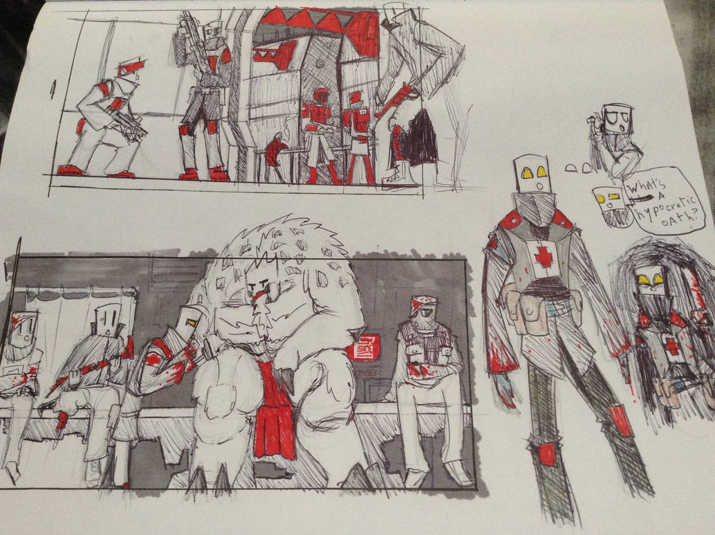 Red Doodles by Lambda-fallout125